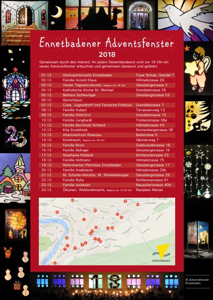 Adventsfenster Ennetbaden 2018